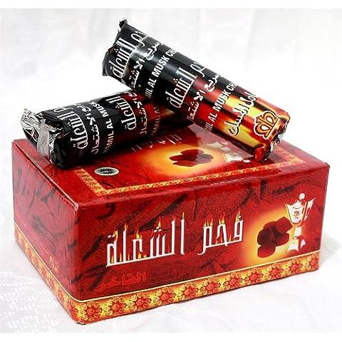 Venta de carbón! 100 tabletas de Carbones Hookah nargila para tazón Shisha fumar