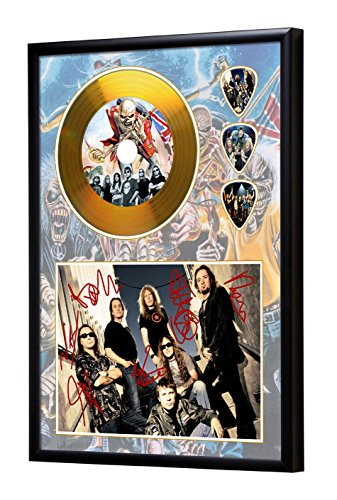 Iron Maiden Gerahmte CD Gold Disc Display & Plektren (A4) (Gold Gerahmt)