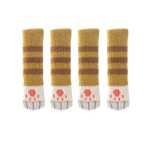 HCFKJ Hot Lovely 4 Stücke Stuhl Beine Tischfuß Abdeckungen Bodenschutzfolie Floral Kint Abdeckung (B)