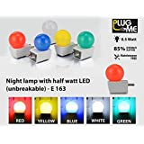 House Of Gift Plug Me Night Lamp With Half Watt Led (unbreakable) (Set Of 1)
