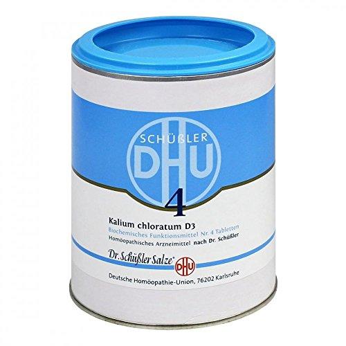 DHU Schüßler-Salz Nr. 4 Kalium chloratum D3, 1000 St. Tabletten