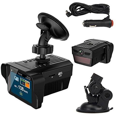 Caméra de voiture, Ourmall 5,1cm TFT HD de voiture Chien électronique détecteur de radar Rétroviseur véhicule Caméra vidéo Recorder, G-Sensor
