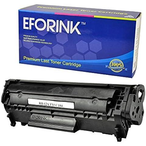 EFORINK - Q2612A/12A Cartucho de Tóner Láser para Impresora LaserJet 1010 1012 1018 1020 1022 3015 3020 1022N 1022nw 3030 3050 3052 3055 M1319 MFP Negro