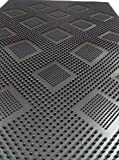 CASA-NEST PVC Stud Mat for Outdoor and Office Space, 16x24 inch, Black