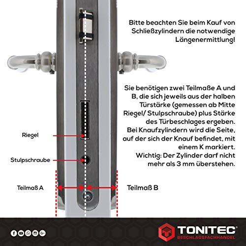 ABUS T/ürzylinder Schlie/ßzylinder Zylinder EC550 inkl ToniTec CodeCard Gr/ö/ße 28//34mm 5 Schl/üssel inkl