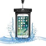 Wasserdichte Tasche Beutel Hülle IPX8 Handyhülle, Premium Staubdichte Schützhülle, Alfort Universal Transparent Trocken Beutel Dry Bag Pouch Wasserdichte Handytasche mit Armbinde und Umhängeband für iPhone 8 / 8 plus / 7 / 7 plus / Samsung Galaxy S8 / S7 / S7 edge / J3 / A3 2017 / A5 2017 / Huawei / Sony Xperia bis zu 6.0 Zoll Smartphones. Für den Strand / Wassersport / Angeln / Winterschwimmen / Klettern Sie den Schneeberg / Heiße Quellen Kann verwendet werden. (Schwarz)