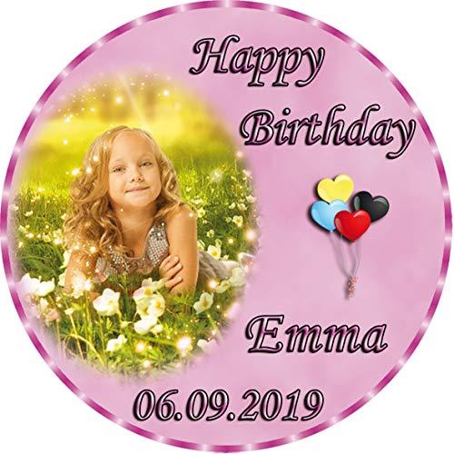 Tortenaufleger Fototorte Tortenbild zum Geburtstag Rund 14 cm G3 (Zuckerpapier) (Kuchen Bild)