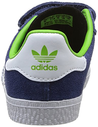 adidas Originals Gazelle Cf 2 I, Baskets mode mixte enfant Bleu / Blanc / Vert
