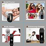 AsiaLONG Fitness Tracker mit Pulsmesser, Schrittzähler Uhr Fitness Armband Wasserdicht Aktivitätstracker mit Schlafmonitor, herzfrequenz, Kalorienzähler, Vibrationsalarm Anruf SMS Whatsapp Beachten mit IOS Android Smartphones (Upgrade Version) - 7