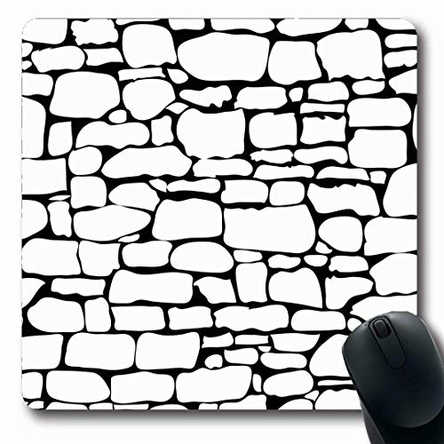 Mousepads Parks Brown Wall Stones Muster Rock Graphic Grau Brick Stonewall Abstract Black Design Längliche Form rutschfeste Gaming Mouse Pad Gummi Längliche Matte,Gummimatte 11,8