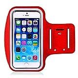 Portacellulare da braccio in esecuzione, Esecuzione Sport braccio del braccio del telefono cellulare Iphone5s braccio fascia braccio 6S Strap Fitness Bag ( Colore : Rosso , Dimensione : 5.5 inch )