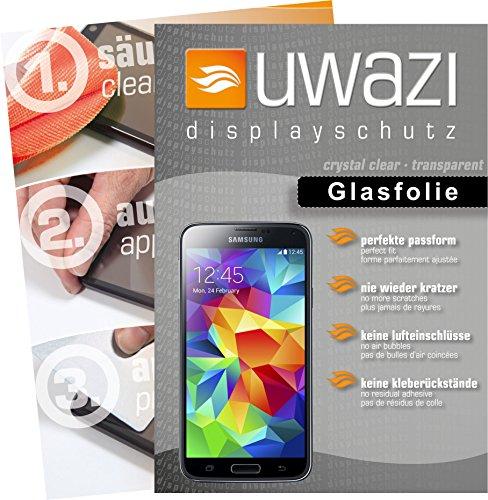 uwazi Samsung Galaxy S5 Semi Glasfolie - gehärtete Schutzfolie mit Spezialbeschichtung gegen Fingerabdrücke