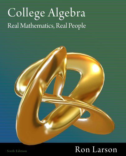 Bundle: College Algebra: Real Mathematics, Real People + Enhanced Webassign with eBook Loe Printed Access Card for One-Term Math and Science