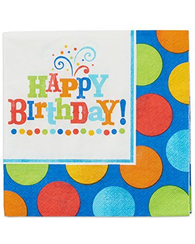 Amscan International Birthday Fever Party Napkins, Pack of 16