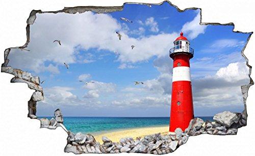 Leuchtturm Möwen Meer Wandtattoo Wandsticker Wandaufkleber C0508 Größe 40 cm x 60 cm (Wandtattoo Möwen)