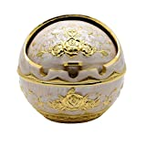 Best Heart To Heart Garden Decors - TOWOMO Portable Cigarette Cigar Ashtray Antique Sophisticated Engraved Review