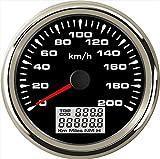 Eling auto GPS Speedometer Velometer 0-200km/h Speed contachilometri chilometraggio per auto moto da corsa con retroilluminazione 85mm