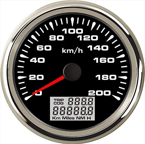 ELING Auto GPS Tachometer Velometer 0-200km/h Geschwindigkeit Kilometerzähler fahrleistung für Auto Racing Motorrad mit Hintergrundbeleuchtung 85mm