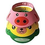 ARAUS Chapeau de Shampooing pour Enfant Chapeau de Douche Protéger Casquette Visière Chapeau pour bébé enfantpour Bébé Adjustable Baby 3 Piece