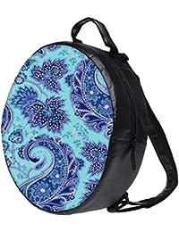 Snoogg Paisley Print Blue Bookbag Rounded Backpack Boys Girls Junior School Bag PE Shoulder Bag Lunch Kids Luggage