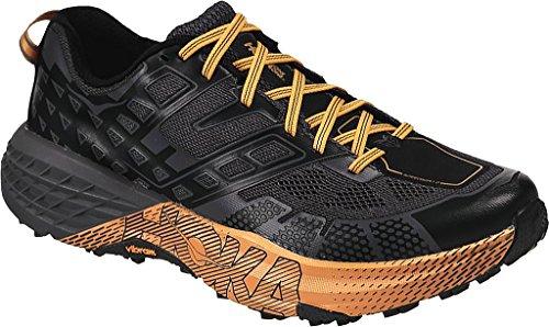 Hoka SPEEDGOAT 2, Scarpe Trail-running uomo, Black/Kumquat, 43 1/3 EU