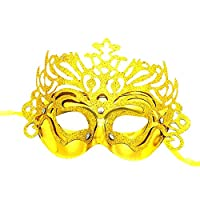 BIGBOBA Women Halloween Masquerade Mask Crown Shape Hollow Half Face Mask for Venetian Party Wedding Props Fancy Dress Ball Party Costume Accessory