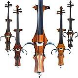 Aliyes faite à la main professionnel en bois massif électrique pour violoncelle 4/4Taille complète électrique Silencieux Cello-wood Grain DT-N1810