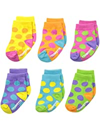 Trumpette Dots Baby Girls Socks Set - 0-12 Months - Gift Boxed