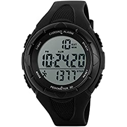Student Sport Watch Outdoor LED Digital Watch Waterproof Pedometer