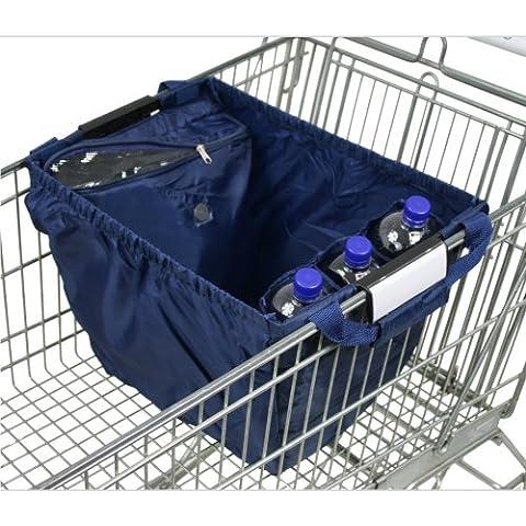 achilles, Easy-Carrier, Bolsa para carro de compras con compartimiento de refrigeración y 3 compartimientos de