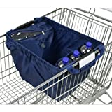 achilles®, Easy-Carrier Standard, AD103STna, Faltbare Einkaufswagentasche mit integriertem Kühl- und Flaschenfach, navy, 33 x 39 x 54 cm