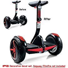 For Segway miniPRO | Smart Self Balancing Personal Transporter Hoverboard Decorative Vinyl Decal Wrap Skin Do it Yourself by IPG (Red Flame Series)