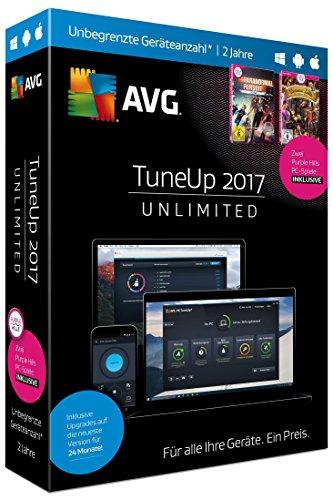 S.A.D AVG TuneUp 2017 Unlimited - Unbegr. Geräteanzahl - 2 Jahre - Sommer-Edition (Wartung Software)