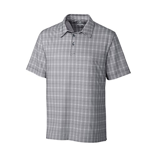New 2015 & Cutter Buck da Golf Performance-Polo da uomo, Dry Tech-Maglietta sportiva a maniche corte, colore: viola, taglia: S-XXL, colore: nero nero X-Large