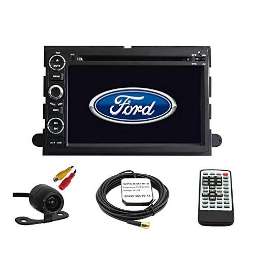 igation System für Ford Fusion 2006–2009/FORD EXPLORER 2006–2010/FORD MUSTANG 2005–2009/FORD F150 2004–2010/F250 F350 2005–2014/F450 2008–2013/FORD FOCUS 2004–2007/FORD EDGE 2007–2010/FORD EXPEDITION 2007–2014/Ford Taurus 2008 2009 Doppel DIN Auto Stereo DVD-Player 17,8 cm LCD Touchscreen TFT Monitor-INDASH DVD Video Empfänger mit integriertem Bluetooth-tv Radio, unterstützt Factory Lenkradfernbedienung, frei Kamera + EU Karte (Bluetooth-auto Stereo-f150)