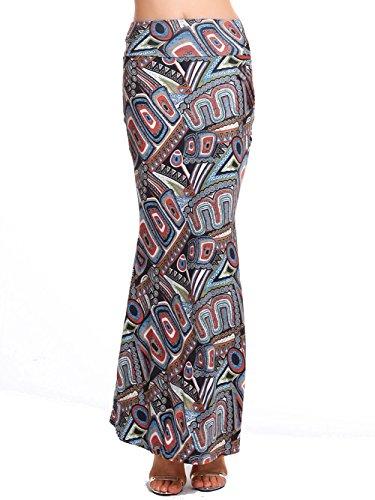 AMORETU Faldas Estampado Corte Imperio Boho Vestido de Playa Maxi Fald