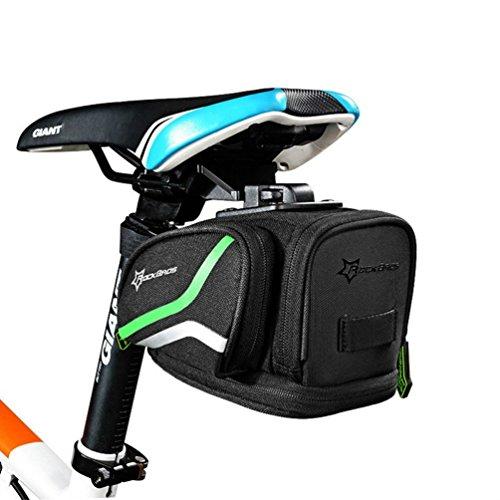ROCKBROS Satteltaschen Fahrradsatteltaschen mit Regenüberzug Große Kapazität für Mountainbike, Rennrad, Faltrad