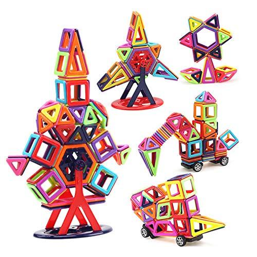 Trimming Shop Magnetisches Spielzeug-Set mit Rad, quadratisch, Dreieck, Pentagon, Briefkarte, kreatives und pädagogisches Modell Bausteine für Kinder, Baby, Kinder, Jungen, Mädchen