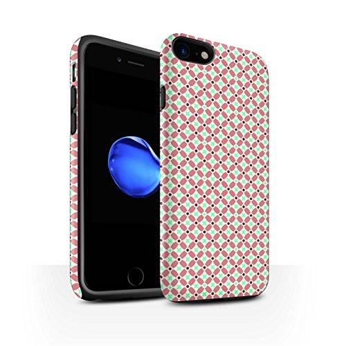 STUFF4 Matte Harten Stoßfest Hülle / Case für Apple iPhone 8 / Violett Muster / Windmühle Kollektion Rot