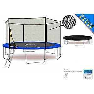 LS-T400-PA13 (BW) LifeStyle ProAktiv Garten- Trampolin 400 cm – 13ft – Extra Starkes Sicherheitsnetz – 180kg Traglast – Neu
