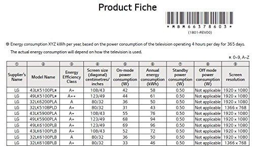 per LG 55 55UK6470 TradeMount Supporto da Parete per TV/Display inclinabile di 12°