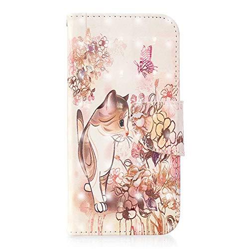 Bear Village Xiaomi Redmi Note 5A Hülle, 3D Glitter Surface Leder Cover Brieftasche Schutzhülle mit Kartenfächern & Ständer Funktion für Xiaomi Redmi Note 5A (#3 Katze)