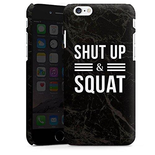 Apple iPhone X Silikon Hülle Case Schutzhülle Squat Fitness Statements Premium Case matt