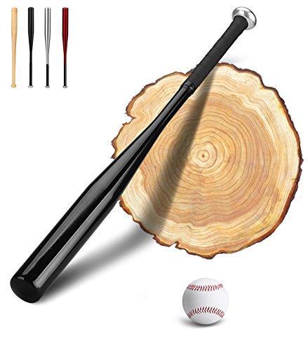 #PLUSINNO 28 Zoll Baseballschläger mit Baseball (Schwarz)#