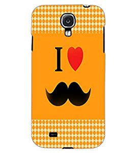 SAMSUNG GALAXY MEGA 6.3 I LOVE MUSTACHES Back Cover by PRINTSWAG