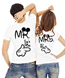 T-shirt coppia Mr & Mrs Mouse
