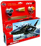 Airfix A50114 BAe Hawk T1 1:72 Scale Military Aircraft Category 3 Gift Set with Paint Glue and Brushes