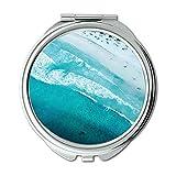 Yanteng Spiegel, Schminkspiegel, Strand Blaue Küste, Taschenspiegel, tragbarer Spiegel
