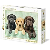 Clementoni - Puzzle de 1000 piezas, High Quality, diseño Los Tres Labradores (392797)