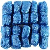 100 Pz/set Copriscarpe in plastica usa e getta Camere Esterne Impermeabile Stivali da pioggia Tappeto Pulito Ospedale Soprasc